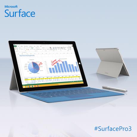 <p>Tablet Surface Pro 3 de 12 polegadas</p>