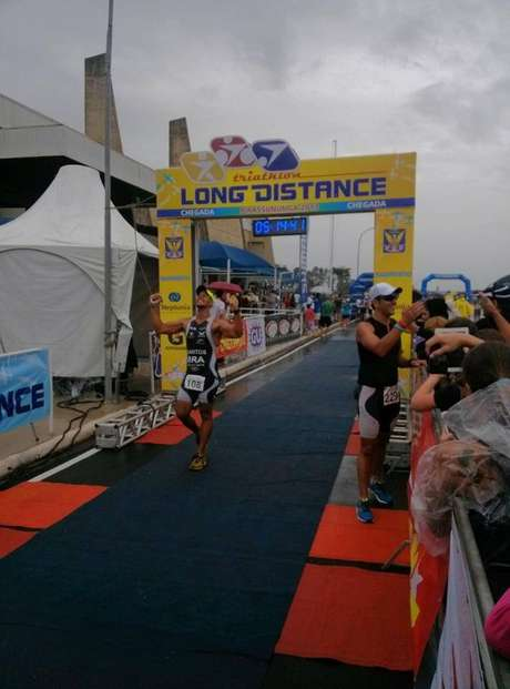 <p>Como preparação para o Ironman, ele participou de maratonas e provas similares</p>