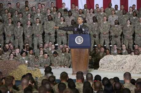 <p>Obama disse que uma das razões de sua visita era discutir o plano dos EUA para o restante deste ano e para o futuro</p>