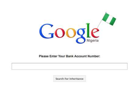 Site Google Nigéria, criado por Shed Simonev