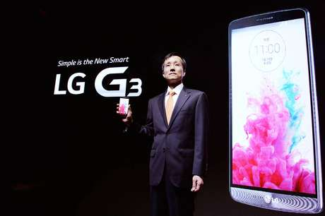 Presidente da LG Mobile, Jong Seok Park apresenta o novo LG G3