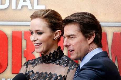 <p>Ao lado de Emily Blunt,Tom Cruise divulga 'No Limite do Amanhã'</p>