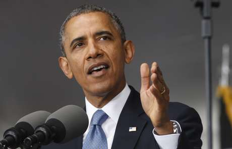 <p>Barack Obamaprometeu aumentar o apoio americano à oposição síria que combate o regime do presidente Bashar al-Assaddurantediscurso naAcademia Militar dos Estados Unidos em West Point, Nova Yorque, em 28 de maio</p>