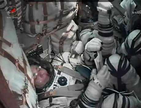 <p>O lançamento do foguete foi transmitido ao vivo pela Nasa</p>