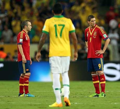 Espanha caiu para o Brasil por 3 a 0 na final da Copa das Confederações