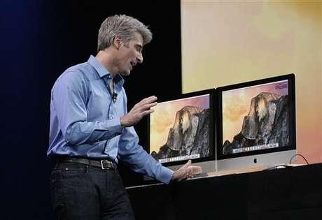 <p>Craig Federighi, vice-presidente de engenharia da Apple, apresentou o OS X Yosemite em junho</p>
