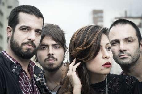 Da esquerda para direita: Martin, Guilherme Almeida, Pitty e Duda Machado