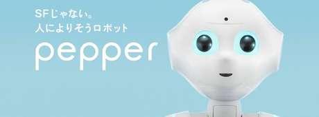 <p>Robô Pepper é desenvolvido pela empresa japonesa Softbank</p>