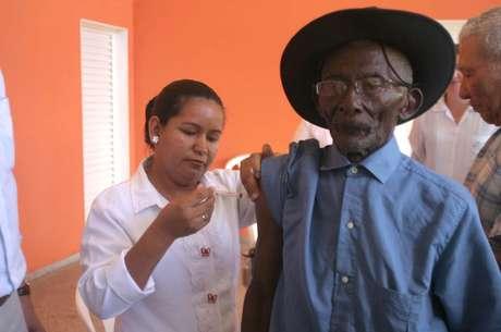 Antonio Mulato exibe boa saúde e lucidez