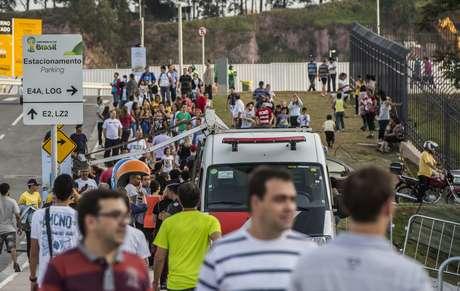<p>Circulação de público no entorno do estádio será vetada em dia de jogo</p>