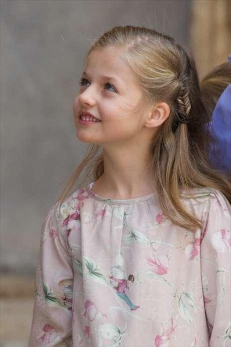 Princesa Leonar, da Espanha, em missa de Páscoa na Catedral de Palma de Mallorca, no dia 20 de abril de 2014