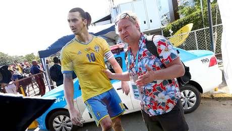 <p>Jornalista sueco &quot;levou&quot; Ibrahimovic&nbsp;a Teres&oacute;polis neste domingo</p>