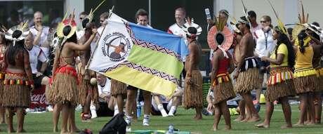 Alemanha abriu o treino para grupo indígena na Bahia