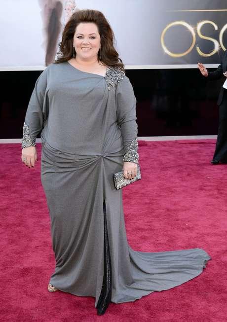Atriz no tapete vermelho do Oscar