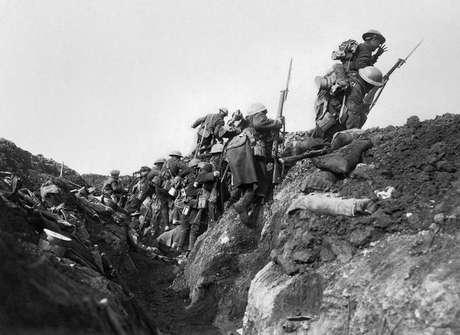 Fronte de batalha durante a Primeira Guerra Mundial