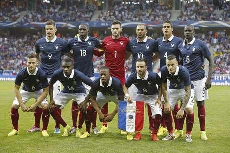 Equipe francesa posa para foto antes do amistoso pré-Copa contra Jamaica 867556bfce8e4