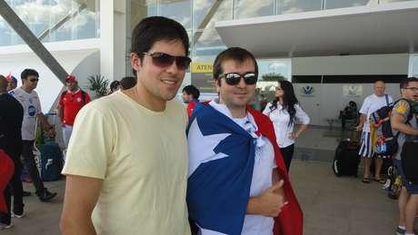 <p>ChilenosDaniel e Jorge apostam em vitória chilena contra Austrália</p>