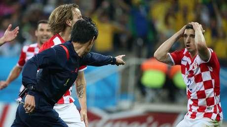 <p>Fred protagonizou lance polêmico de pênalti em vitória do Brasil sobre a Croácia</p>