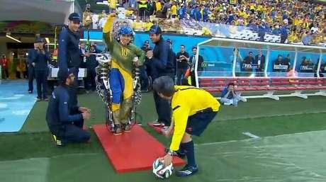<p>A transmissão da abertura da Copa, contudo, não destacou muito a tecnologia</p>