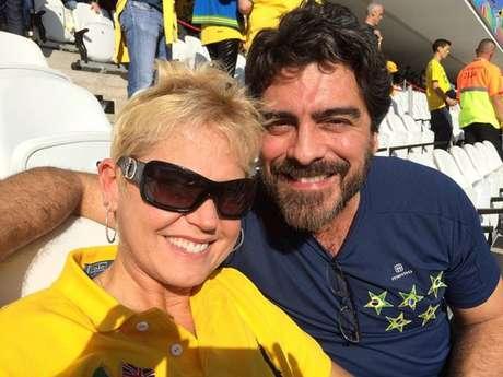 <p>Apresentadora publicou foto no estádio em seu Facebook</p>