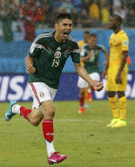 <p>Peralta, algoz do Brasil em 2012, fez único gol da partida</p>