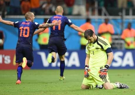 <p>Após atuação desastrosa, Casillas perdeu chance de superar recorde de minutos sem levar gols em Copas</p>