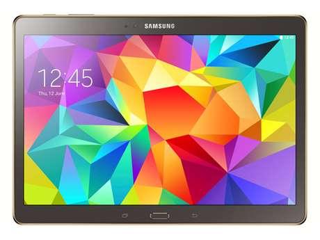 Samsung presentó en Nueva York sus nuevas Galaxy Tab S, que competirán directamente con los dos modelos de iPad de Apple. Disponibles el mes que viene desde 399 euros. En la imagen, el modelo de 10,5 pulgadas.