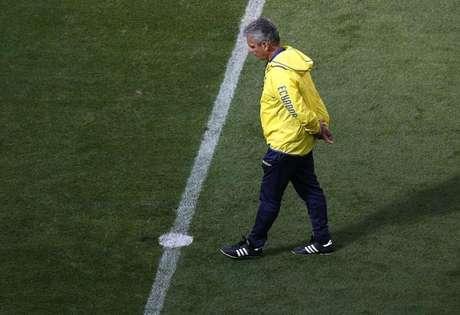 <p>Treinador do time do Equador, Reinaldo Rueda, durante treino</p>