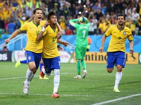 <p>Neymar já fez dois gols na Copa; Até aqui, são 28 no total em oito jogos</p>