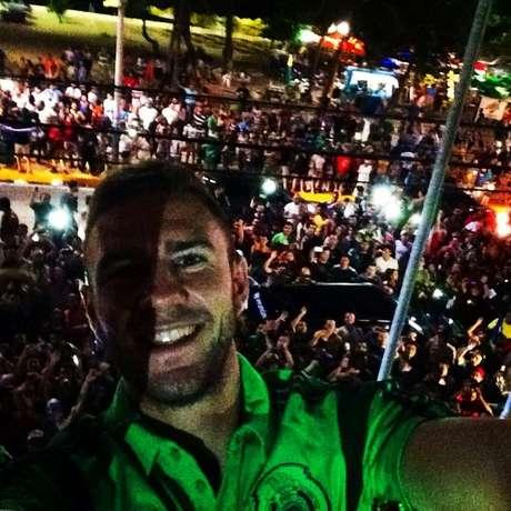 Jogador do México, Miguel Layun, usou o selfie para agradecer o apoio dos torcedores mexicanos