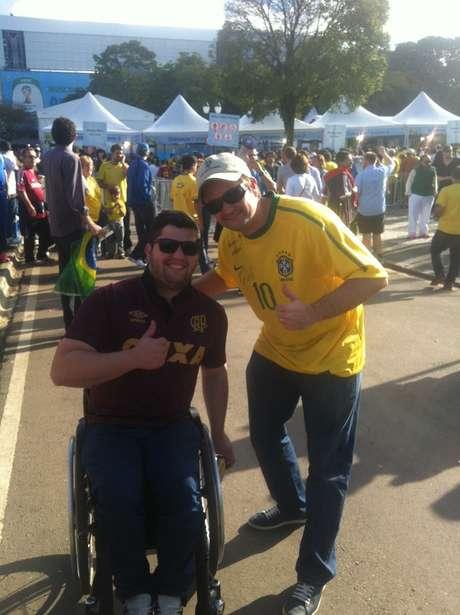 Pedro Zanardi, 33 anos, é bancário e não teve dificuldades para chegar ao estádio