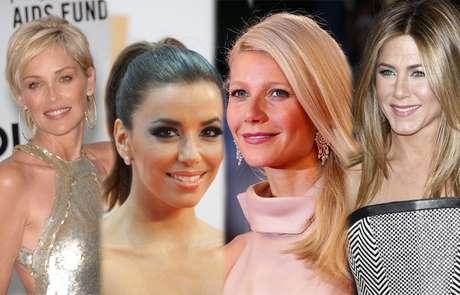 Fãs de tratamentos estéticos e cirurgias plásticas, famosas como Sharon Stone, Eva Longoria, Gwyneth Paltrow e Jennifer Aniston também investem em dietas e exercícios para fugir das gordurinhas localizadas