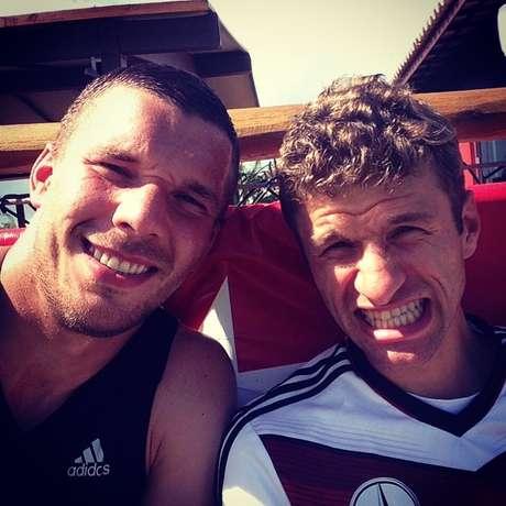 """<p>Com apenas 24 anos, Müller é um dos """"veteranos"""" da jovem Alemanha e um dos principais responsáveis pelo bom ambiente no vestiário</p>"""
