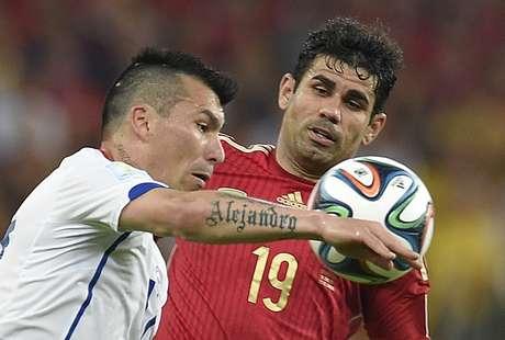 <p>Diego Costa ouviu vaias e passou em branco na Copa</p>