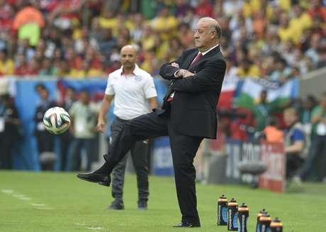 <p>Vicente Del Bosque assume culpa por eliminação da Copa</p>