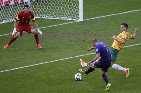 <p>Holanda saiu na frente do marcador</p>