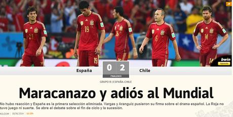 Jornal AS compara elimanação espanhola com derrota do Brasil em 1950