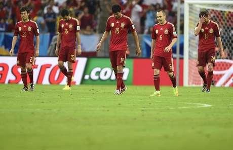 <p>Espanha fracassou na Copa do Mundo com problemasque impediram o sucesso dosanos anteriores</p>