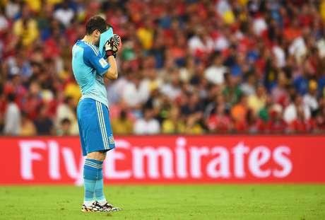 <p>Casillas fez uma Copa do Mundo deplorável, com falhas feias nas derrotas para Holanda e Chile</p>