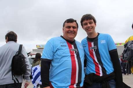 São-paulinos, Alexandre e Rodrigo vão à Arena Corinthians para torcer pelo Uruguai