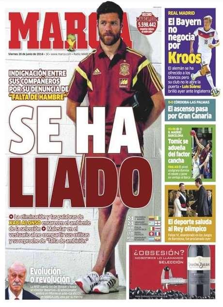 Jornal Marca diz que Xabi Alonso dificilmente voltará a jogar pela seleção espanhola