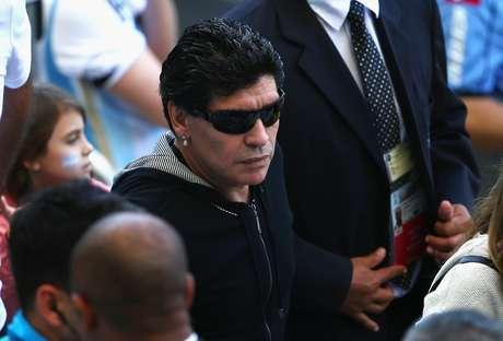 <p>Direto da arquibancada do Est&aacute;dio do Mineir&atilde;o, em Belo Horizonte, o ex-jogador Diego Maradona assistiu, neste s&aacute;bado, ao jogo entre Argentina e Ir&atilde;. A partida &eacute; v&aacute;lida pela segunda rodada da Copa do Mundo de 2014.&nbsp;</p>