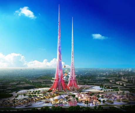 <p>As torres conhecidas como Phoenix Towers terão filtragem de água, ar, usina solar e jardim vertical</p>