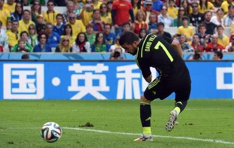 Villa marca segundo gol da Espanha na Copa do Mundo de 2014