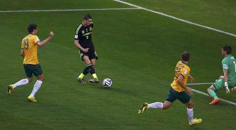 <p>Australia enfrentou a Espanha na Arena da Baixada</p>