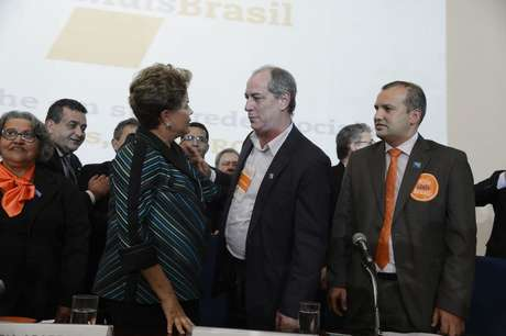 Dilma participou da convenção e cumprimentou Ciro Gomes
