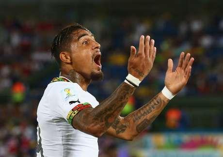 Principal estrela da seleção de Gana, Kevin-Prince Boateng tem os dois braços cobertos por tatuagens