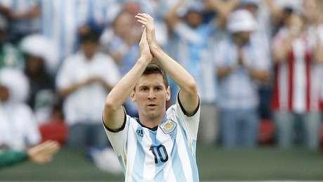 <p>Messi fez dois dos três gols marcados pela Argentina nesta quarta-feira</p>