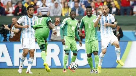 p Nigerianos fizeram jogo difícil contra Argentina na primeira ... f6fa838a7088c