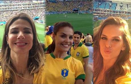 <p>Famosas torcedoras embelezam as arquibancadas dos estádios durante os jogos do Mundial e mostram que o Brasil tem belíssimas mulheres</p>